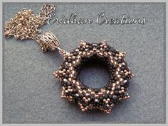 FROM Eridhan.blogspot.com: Beaded Donut Pendant