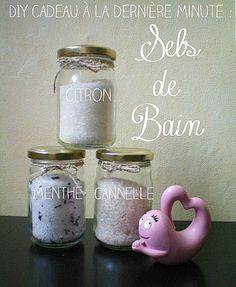 DIY idée cadeau de dernière minute pour la fête des mère : des sels de bain parfumés aux huiles essentielles!