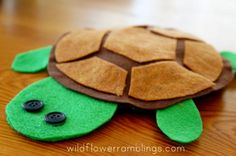 How to make a Felt Turtle  - Wildflower Ramblings
