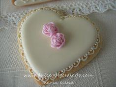 dulce y algo salado-cursos de galletas decoradas: Galletas decoradas ...de boda!