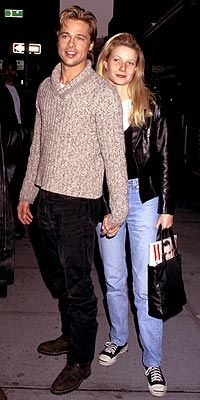 Gwyneth & Brad Pitt 1994 - 1997 (engaged from 1995, he was 33, she 24 when they broke up)