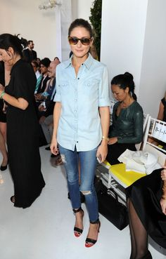 Olivia Palermo an der Mercedes-Benz Fashion Week in New York.