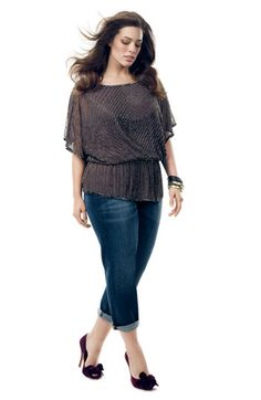 7359401ba2e9 Adrianna Papell Silk Top   KUT from the Kloth Jeans