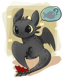 Toothless, chibi, cute, fish, How to Train Your Dragon; Cute Animal Drawings, Kawaii Drawings, Disney Drawings, Toothless Drawing, Toothless And Stitch, Baby Toothless, How To Draw Toothless, Baymax, Cute Disney
