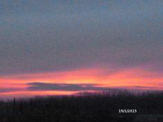 19 gennaio, prima che il cielo si chiudesse di nuovo, facendo sparire il sole sopra le nuvole