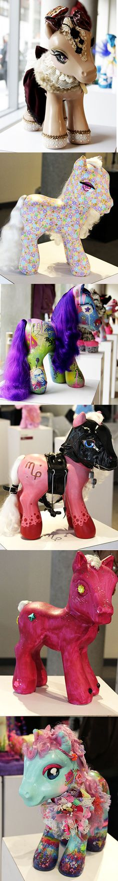 Epic 'My Little Pony' Art Exhibition - I love custom my little ponies. Want to start collecting - if only I had the patience to do some myself!