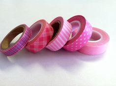 Pretty in Pink Washi Tape Roll Lot, starting at a $6 bid in Supplies right now. #BidOnTophatter