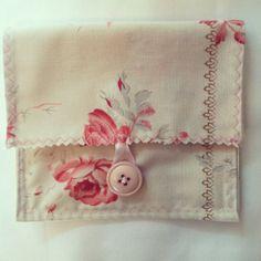 Tea wallet ID wallet hair clip pouch - $6