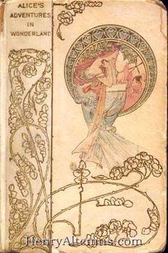 Alice's Adventures in Wonderland1901-1902. cover - Alphonse Mucha.