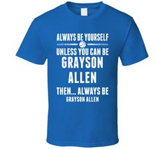 Excellent Always Be Yourself Grayson Allen Durham Basketball T Shirt DTG printed on soft, pre-washed cotton. or personal sports fan t-shirt. Duke Basketball Tickets, Golden State Basketball, Basketball Shorts Girls, Basketball Games For Kids, Basketball Rules, Best Basketball Shoes, Basketball Skills, Basketball Hoop, Basketball Scoreboard