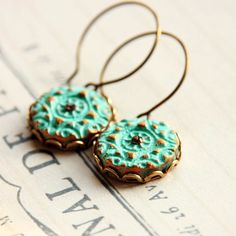 Alona Lahav jewelry on Etsy.  These green turquoise clay earrings - $25