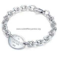 Tiffany And Co Bracelet Oval Tag Silver 042