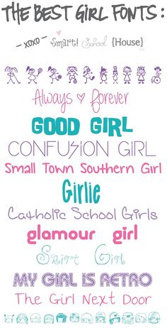 Here is a collection of The Best Girl Fonts to Download that are FREE!