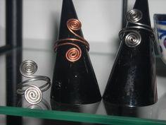 FREE shipping anello argento regolabile hand made in Itay dono NATALE COMPLEANNO anello piccole spirali rame ottone alpacca 1 spira sul dito (9.00 EUR) by ARTCHADELgioielli