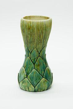 Louis Comfort Tiffany - (1848-1933) - Artichoke Favrile Pottery Vase.