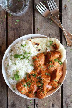 Easy Healthier Crockpot Butter Chicken by halfbakedharvest #Butter_Chicken #Crockpot