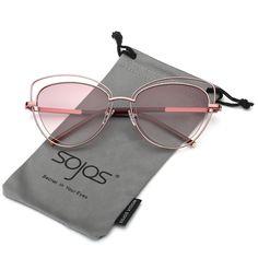 26d293a837c Women s Double Wire Double Rimmed UV400 Cat Eye Sunglasses SJ1046 SJ1047  Sun Shades