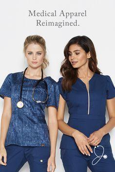 Modern Scrubs and Lab Coats for Men and Women by Jaanuu Dental Uniforms, Nurse Uniforms, Jaanuu Scrubs, Scrubs Outfit, Cute Scrubs Uniform, Cute Nursing Scrubs, Stylish Scrubs, Nursing Clothes, Medical Scrubs
