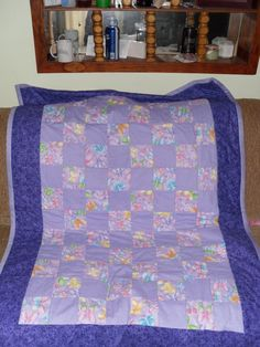 The baby quilt I made for my nephew's daughter