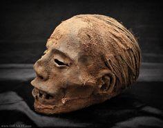 Egyptian mummified head / Cabeza momificada egipcia (oddities)    https://www.ojearte.com/tienda-store/curiosidades-oddities/