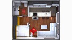 Ideas que mejoran tu vida Small Room Interior, Small Room Bedroom, Tyni House, Sims House, Tiny Apartments, Tiny Spaces, Apartment Layout, Apartment Design, Small Condo Decorating