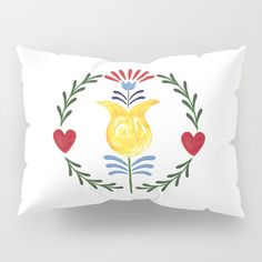 Folk Pillow Sham by Unicornlette | Society6