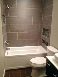 Resultado de imagen para horizontal accent tile in tub