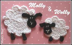 Natas Nest: Little Sheep Crochet Appliqué – Gehäkelte Schäfchen-Applikation