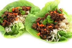 Skinny Korean Beef Lettuce Cups. The flavors are fantastic! It's such a quick and easy dinner. Each serving, 292 calories, 7g fat & 8 Weight Watchers POINTS PLUS. http://www.skinnykitchen.com/recipes/skinny-korean-beef-lettuce-cups/