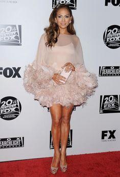 Marchesa's Flirty Pink Feathers - Jennifer Lopez's Most Magnificent Fashion Moments - Photos