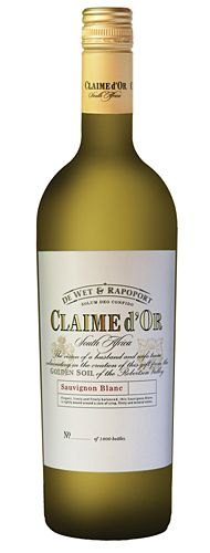 """Claime d'Or Sauvignon Blanc 2013  A wonderful Sauvignon Blanc The name """"Claime d'Or"""" is created by combining a French and an English word to refer to a special piece of earth appropriated by the partners, yet acknowledging/honouring the original name of the land.The original name of the farm was """"Goldmine"""". """"D'Or"""" is """"gold"""" in French. The English word """"Claim"""" refers to """"a right or title to something [also mining claim]; a piece of land."""" Wine Online, Sauvignon Blanc, December 2014, English Words, Wines, Earth, French, Boutique, Bottle"""