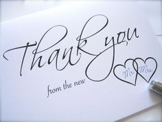 Wedding Thank You cards with envelopes thank by PaperLovePrints, $12.99 #pcfteam