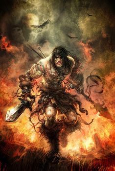 BARBARIANS are a class of fighters who use brute strength and raw fury to excel in combat.  They can use their rage to gain buffs to their Strength, Constitution, Willpower, and resilience to pain.