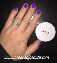 P.113 EZdip Gel Powder. DIY EZ Dip. No lamps needed, lasts 2-3 weeks! Salon Quality done right in your own home! For updates, customer pics, contests and much more please like us on Facebook https://www.facebook.com/EZ-DIP-NAILS-1523939111191370/ #ezdip #ezdipnails #diynails #naildesign #dippowder #gelnails #nailpolish #mani #manicure #dippowdernails