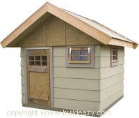 Free playhouse plans. Shopping and cutting list is very comprehensive. This one is made with cement board.  Just something to consider.