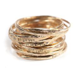 stacking rings | metal brain gallery:kate ellen metals  [via:sepiabeauty]