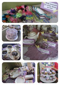 Frugal Little Girls Tea Party - 1st Birthday tea party decor ideas