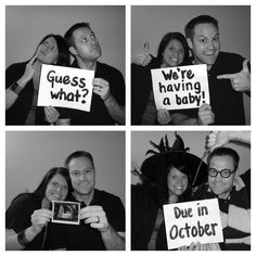 Cute baby announcement idea; So doing this with my next kid.