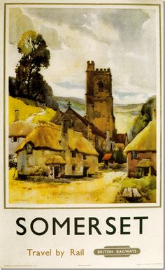 Round Britain By Railway Posters – Somerset.17