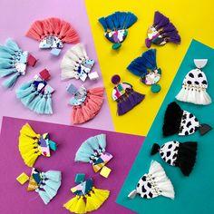 Tassel earrings for your Sunday viewing pleasure ❤️❤️❣️ . . . . . #salvationjewellery #handmade #earrings #polymerclay #handmadejewellery #oneofakind #jewellery #darwin #handmadejewellery #designer #australianmade #originaldesign #jewellerydesigner #earringoftheday #smallbusiness #wearableart #flatlay #tassel #tasselearrings