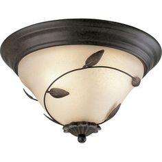 Progress Lighting�Eden 15.5-in W Forged Bronze Ceiling Flush Mount