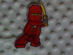 Ninjago Kai DIY iron on applique/patch by Fancydancyboutique, $3.95