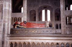 Cardinal Henry Beaufort, Bishop of Winchester (c. 1374 – 11 Apr 1447) son of John Plantagenet of Gaunt, Duke of Lancaster, son of Edward III, King of England. Buried in Winchester Cathedral, Hampshire.