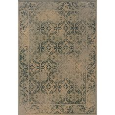 @Overstock - Indoor Beige and Blue Area Rug - This beautiful transitional area rug has the look of an old-world, vintage traditional rug in washed romantic shades of beige, blue and green.  Encompassing the best of both worlds, this rug offers high style, affordability and ease of care.  http://www.overstock.com/Home-Garden/Indoor-Beige-and-Blue-Area-Rug/7576681/product.html?CID=214117 $73.09