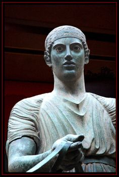 The most mysterious moment of my life with this charioteer in Delphi, Greece.