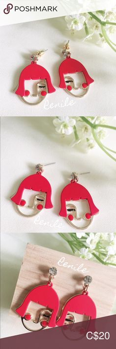 🔴Cute Red Hair Mary Earrings🔴 ⚠️ 𝙁𝙍𝙀𝙀 𝙘𝙝𝙖𝙣𝙜𝙚 𝙩𝙤 𝙨𝙘𝙧𝙚𝙬 𝙘𝙡𝙞𝙥𝙨  · 100% Brand NEW · Material: Alloy, Rhinestone  · Needle Material: Steel  · Size:  W 2.5 cm x H 4 cm · Sold only in pairs · Nicely pack with box · All pictures took from the real items. However, as the actual colors you see will depend on your monitor, we cannot guarantee that your monitor's display of any color will be accurate. Jewelry Earrings Christmas Stockings, Christmas Ornaments, All Pictures, Red Gold, Lady In Red, Red Hair, Monitor, Mary, Change