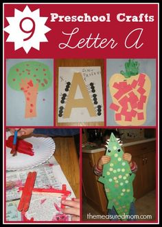 Fun letter A crafts for preschoolers! Months later, my little guy still asks to make another airplane.  We've made at least four...