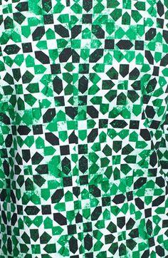 MICHAEL Michael Kors Print Drop Shoulder Coat | Nordstrom green