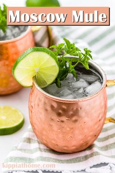 Easy Moscow Mule Recipe only 4 ingredients to make the best craft cocktail ever. Impress your guests with this classic refreshing recipe. Fresh, zingy flavors that are not too sweet with a boozy kick!