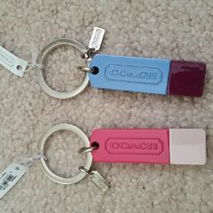 🎀NWT Coach USB Keychains NWT Coach USB keychains. I'm not sure how much storage there is on them. I think each one either has 2 or 4 gb. Coach Other